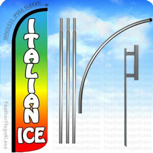 Italian Ice Windless Swooper Flag Kit Feather Banner Sign 15 Z