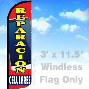 Reparacion Celulares Windless Swooper Flag Feather Banner Sign 3x11 5 Rq