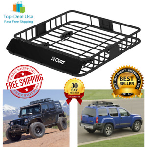Curt Universal Roof Rack Cargo Carrier Car Top Luggage Basket Travel For Suv New