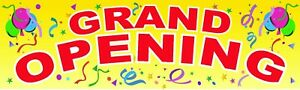 Grand Opening Banner 3 x10 Vinyl Sign New Store Coming Soon