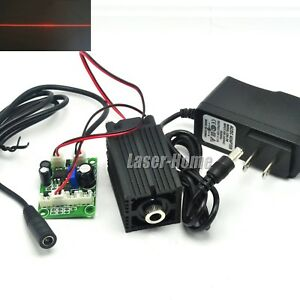 650nm 100mw Red Focusable Line Laser Diode Module W 12v Adapter ttl driver fan