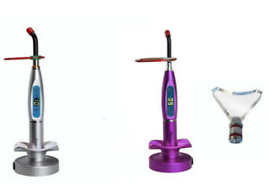 2 dental Wireless Cordless Led Curing Light 1500mw Whitening Tips silver purple