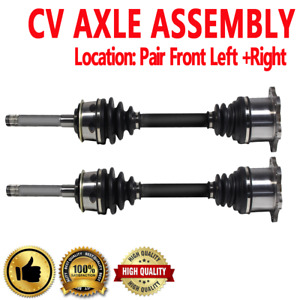 Front Pair Cv Axle Assembly For Toyota T100 93 98 Non Abs