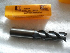 5 8 Solid Carbide 3 Flute S End Mill Center Cut Tialn Coat By Kennametal