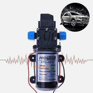 High Pressure Water Pump Micro Electric Diaphragm Automatic Dc 12v 100w 8l min