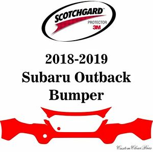 3m Scotchgard Paint Protection Film Clear Pre cut Fits 2018 2019 Subaru Outback