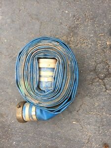 4 X 50ft Water Discharge Hose Npt Male W pin Lug Female Fittings Blue Pvc
