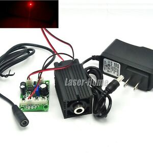 Focusable 650nm 100mw Red Dot Laser Diode Module Ttl Driver Fan W 12v Adapter