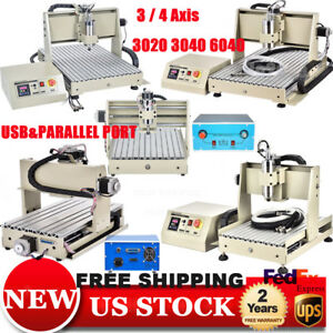 3 4 Axis 300w 400w 1500w Vfd Cnc Router Engraver Machine 3d Engraving Carving