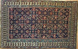 Gorgeous Garrous 1910s Antique Bijar Rug Persian Kurdish Carpet 4 5 X 6 10