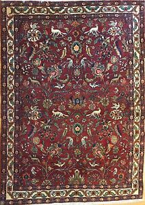 Gorgeous Gholtogh 1930s Antique Bijar Rug Persian Carpet 4 8 X 6 4 Ft