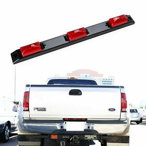 Red 9 Led Truckbed Rear Center Running Light For Ford F Truck Ram Silverado Etc