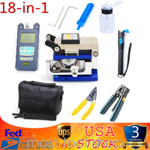 Fiber Optic Ftth Tool Kit W Fc 6s Fiber Cleaver Optical Power Meter Finder Us