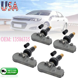 Set Of 4 For Chevy Gmc Tire Pressure Monitoring Sensors Tpms Gm Oem 13581558