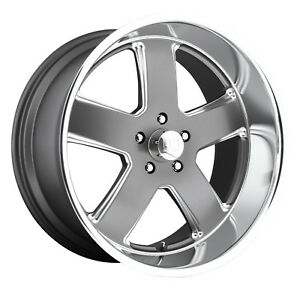 Cpp Us Mags U118 Hustler Wheels 20x8 F 22x9 R Fits Chevy Chevelle Ss Impala