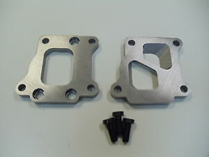 Evo 8 Dsm Exhaust Manifold To T3 Divided Turbo Adapter Flanges 2 1 2 Cnc