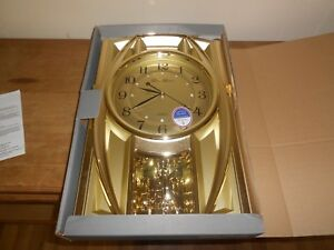 New Gustav Becker Gold Collectible Wall Clock Nib