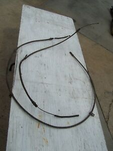 Corvette 1963 Only Parking Brake Cables Front Rear move Freely Good Condition