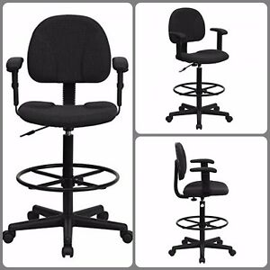 Drafting Chair With Arms Desk Office Chair Stool Adjustable Modern Ergonomic New