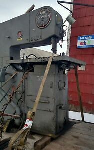 Vertical Band Saw 36 Do all 3612 W Hydraulic Feed Table And Grinder