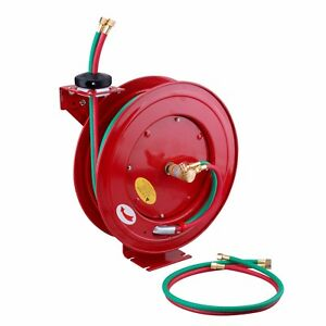 Steel Core Retractable Twin Welding Hose Reel