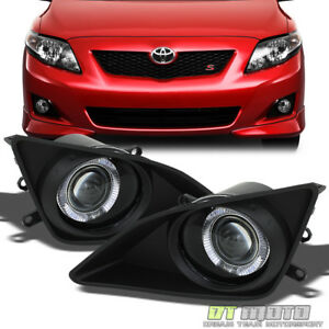 For 2009 2010 Toyota Corolla Led Halo Projector Bumper Driving Fog Lights Switch