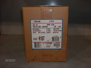 nib Ao Smith Ac Motor H157 1 4hp 1725rpm nib