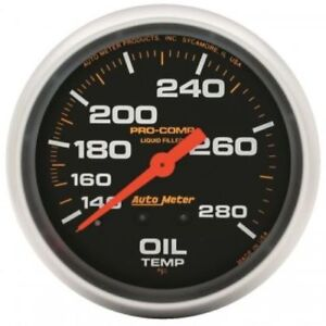 Auto Meter 5441 2 5 8 Pro comp Mechanical Oil Temperature 140 280 f