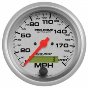 Auto Meter 4486 3 3 8 Ultra lite Electric Speedometer 0 200 Mph