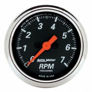Auto Meter 1477 2 1 16 Designer Black Electric Tachometer Gauge 0 7 000 Rpm