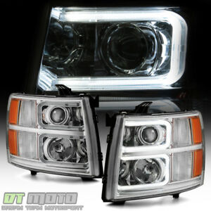 2007 2013 Chevy Silverado 1500 2500hd 3500hd c Tube Led Projector Headlights