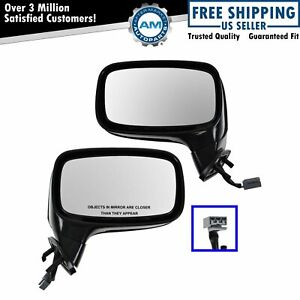 Power Side View Mirror Lh Rh Pair Set Of 2 For 87 93 Ford Mustang Convertible