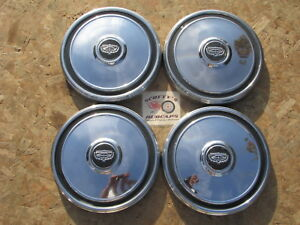 1974 Mercury Comet Montego Poverty Dog Dish Hubcaps Set Of 4