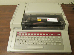A Hp 3396a Integrator For Use With Gas Chromatograph Working