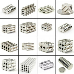 10 100pcs Strong Round Disc 25x5mm To 4x1mm Magnets Rare earth Neodymium N50 N52