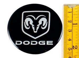 Dodge 4 X New Emblems 55mm 2 3 16 Wheel Center Cap Stickers 3d Decals
