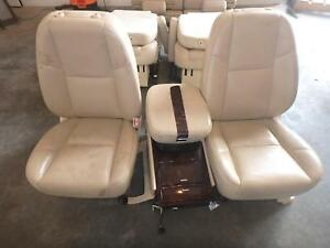 07 14 Cadillac Escalade Front Seat Console Tan Leather Power Oem Chevrolet Gmc