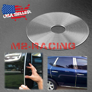 540 Long Silver Chrome Car Door Edge Guard Molding Trim Protectors Strip 45ft