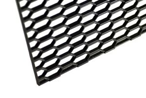 16 X 47 Universal Black Thick Abs Honeycomb Mesh For Grille Bumper Project