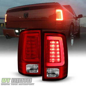 Brightest Red V2 New 2009 2018 Dodge Ram 1500 Pickup Led Tube Tail Lights Lamps