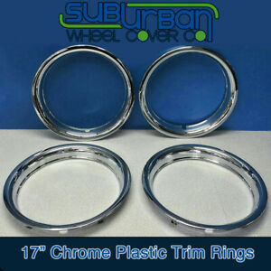 17 Chrome Abs Trim Rings 1 3 4 Depth Beauty Rings 1517p By Cci New Set 4