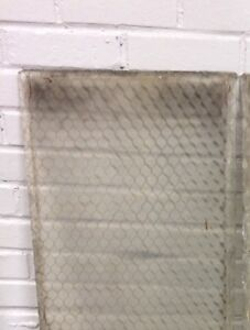 Vintage Antique Chicken Wire Glass Panes 15 3 4 X 20 Wavy 100 Available