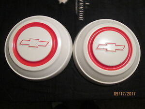 Pair Oem 1967 C10 Chevy Dog Dish 10 1 2 Hubcaps Nice Hub Capschevrolet Poverty