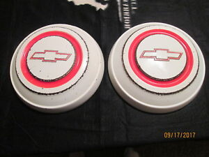 Pair Oem 1967 C10 Chevy Dog Dish 10 5 Hubcaps Nice Hub Caps Poverty Chevrolet