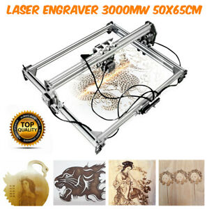50x65cm 3000mw Area Mini Laser Engraving Cutting Machine Printer Kit Desktop