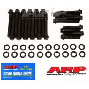 Arp 190 3607 Head Bolt Kit Black For 1967 Later Pontiac 350 455cid With D Port