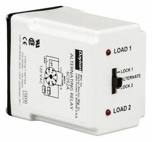 Dayton Alternating Relay 10 Amps 240vac 8 Pins Dpdt Cross wired 6c053