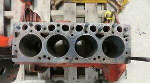 Case G2000 Engine Block Good Used 164 Has Sleeves 4 Cyl Diesel