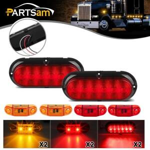 Submersible Led Trailer Light Kit Stop Turn Tail Utility Rv Camper Surface Mount