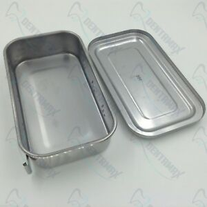 Instruments Tray Case 8 With Hole Sterilization Tray Surgical Of Stainless Steel